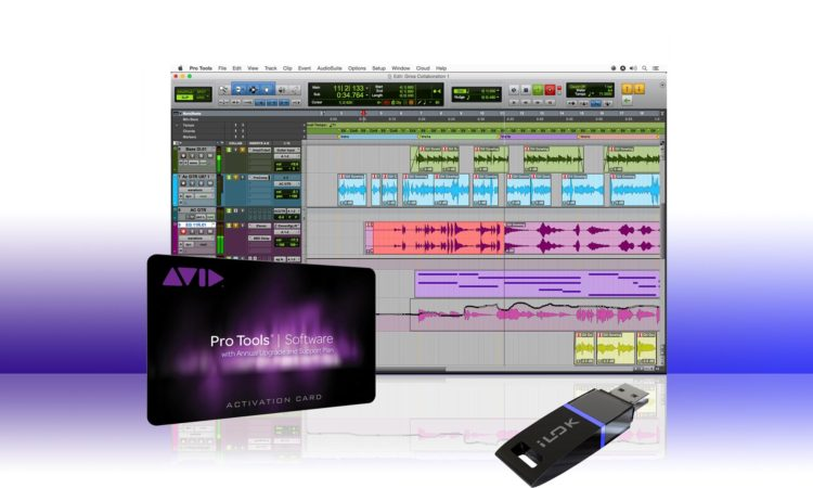 Pro Tools activation card with iLok