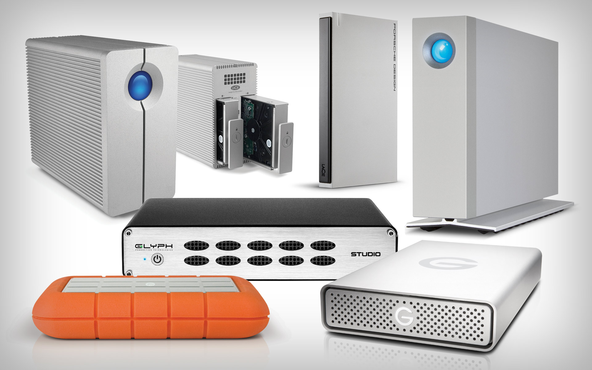 A selection of USB 3.0 Hard Drives
