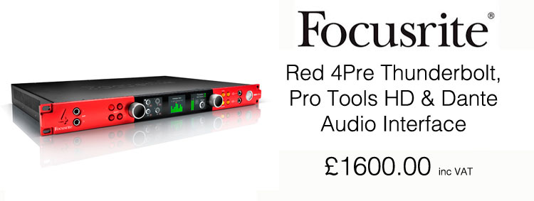 Focusrite RedNet Control 2 3 now includes support for Red