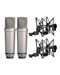 Rode NT1-A Matched Pair Condenser Microphone Vocal Pack