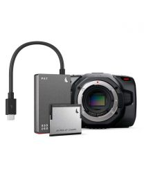 Blackmagic Design Pocket Cinema Camera 6K (Body Only) and Angelbird Match Pack (Grey)
