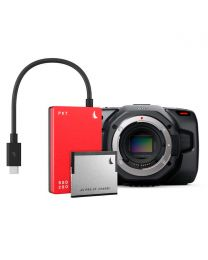 Blackmagic Design Pocket Cinema Camera 6K (Body Only) and Angelbird Match Pack (Red)