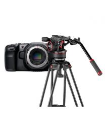 Blackmagic Design Pocket Cinema Camera 6K (Body Only) and Manfrotto Nitrotech N8 & 546GB Twin GS Tripod