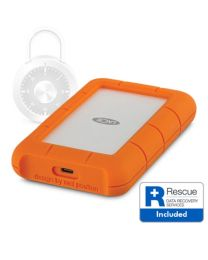 LaCie Rugged Secure 2TB USB-C Hard Drive