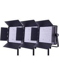 Ledgo 1200LK3 3x Daylight Dimmable Location/Studio Light Kit