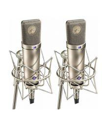 Neumann U 87 Ai Studio Condenser Microphone Stereo Set (Nickel)