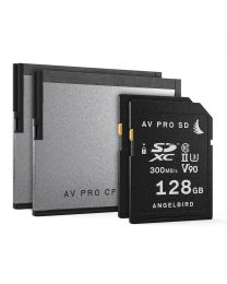 AngelBird Match Pack for URSA Mini Pro- 2 SD 128Gb and 2x Cfast 256 GB Cards with Free Card Reader