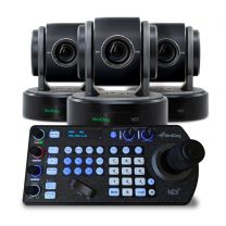 BirdDog Eyes P100 Black PTZ Camera Bundle (x3) w/Free PTZ Keyboard