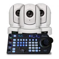 BirdDog Eyes P200 White PTZ Camera Bundle (x3) w/Free PTZ Keyboard