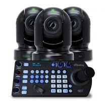 BirdDog Eyes P200 Black PTZ Camera Bundle (x3) w/Free PTZ Keyboard