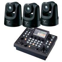 Panasonic 3x AW-UE100K 4K PTZ Camera (Black) includes FREE RP-60 Controller