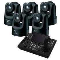 Panasonic 5x AW-UE100K 4K PTZ Camera (Black) includes FREE RP-150 Controller