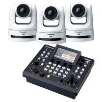 Panasonic 3x AW-UE100W 4K PTZ Camera (White) includes FREE RP-60 Controller