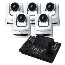 Panasonic 5x AW-UE100W 4K PTZ Camera (White) includes FREE RP-150 Controller