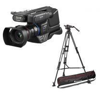 Panasonic HC-MDH3E Shoulder Mount Camcorder & Manfrotto Nitrotech N12 & 545B Twin Mid Spead Tripod Bundle