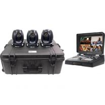 Datavideo PTC-140T HDBaseT PTZ Camera - 3 Camera Kit with HS1600T