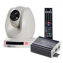Datavideo PTC-140THW HDBaseT PTZ Camera & HDBaseT Receiver (White)