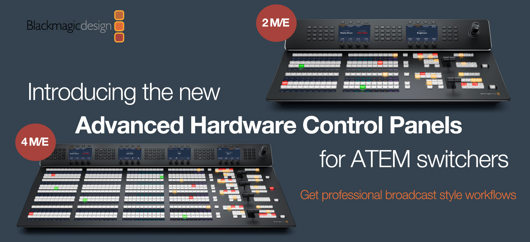 Blackmagic ATEM M/E Advanced Panels