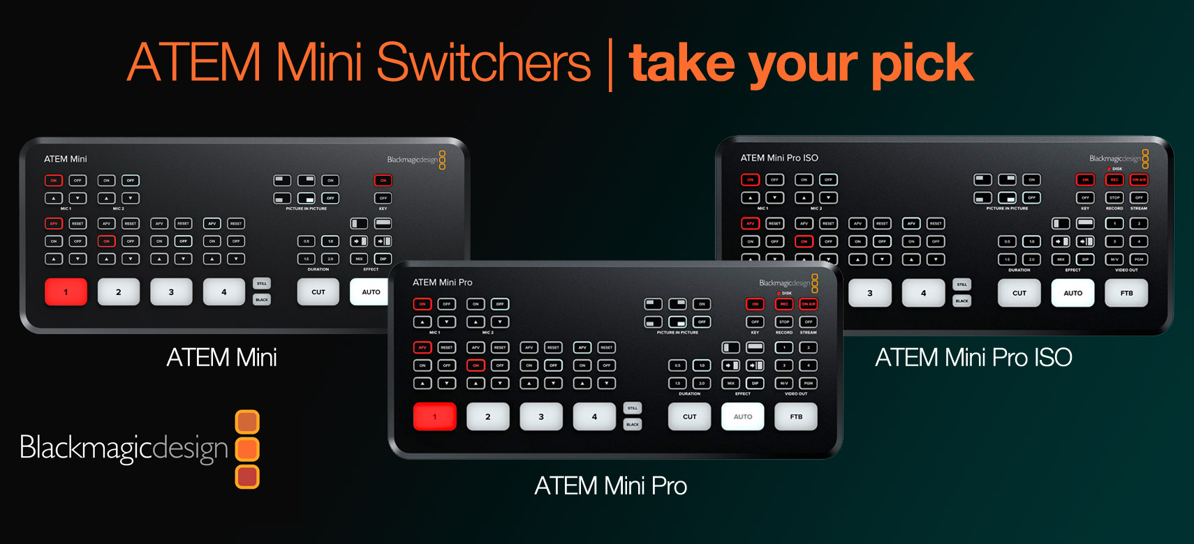 Blackmagic Design ATEM Mini range